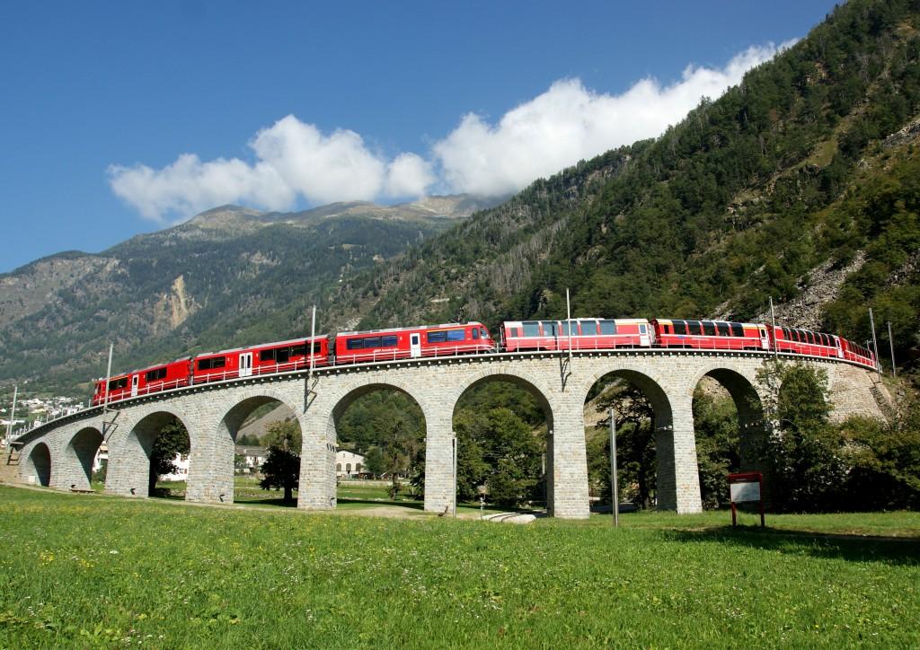 Bernina Express bij Brusio