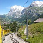 Jungfraubahn-trein richting Grindelwald