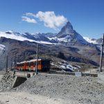Gornergrat Bahn-trein met Matterhorn