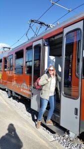 Gornergrat Bahn-instappen