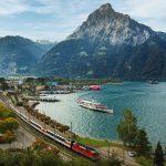 Gotthard Panorama Express bij Flüelen
